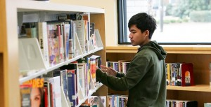 Boy in Library 2